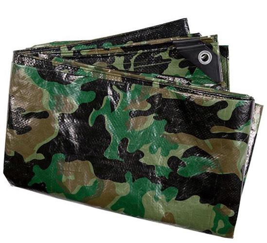 CamouflageWaterproofMultipurposeTarp80gsmGroundSheetTarpaulin