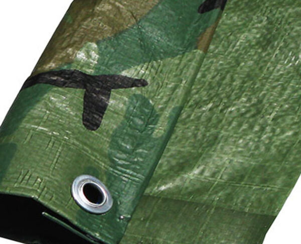CamouflageWaterproofTarp80gsmTarpaulinGroundSheetCoverHeavyDuty
