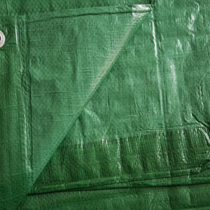 GreenUVProofedTarpaulinWithEyelets90g