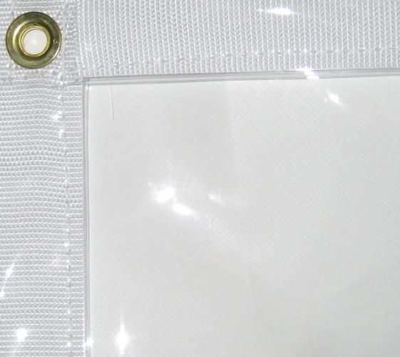 UVProtectedMultipurposeGlassClearTarpaulinWaterproof310gsmTarpaulins